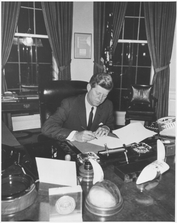 Kennedy Signing the Quarantine Order